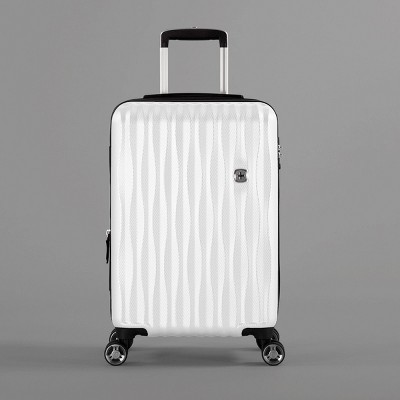SWISSGEAR Energie USB Port PolyCarb Hardside 20  Carry On Suitcase - White