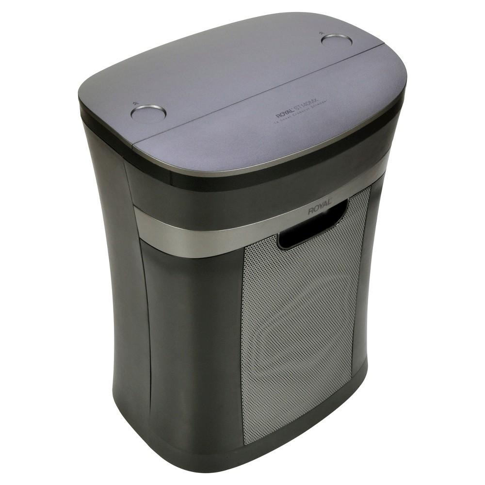 Royal Paper Shredder with Wastebasket, 6ppm, 14 sheet Cross-cut - Black