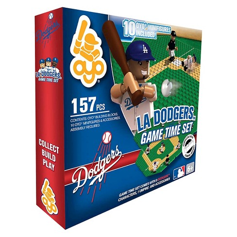 OYO Sports Game time Set 157 Piece Building Blocks - Los Angeles Dodgers - image 1 of 2
