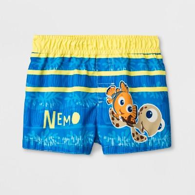 Baby Boys' Finding Nemo Swim Trunks - Blue 9-12M