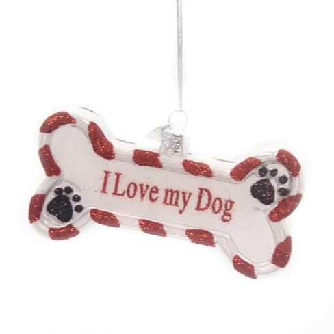 Noble Gems I Love My Dog Ornament Bone Paw Prints Puppy Tree Ornaments Target