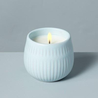 4.2oz Coastal Sage Textured Ceramic Seasonal Candle - Hearth & Hand™ with Magnolia