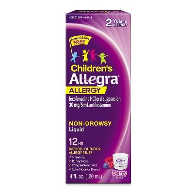 Children's Allegra 12 Hour Allergy Relief Liquid - Berry Flavor - Fexofenadine Hydrochloride