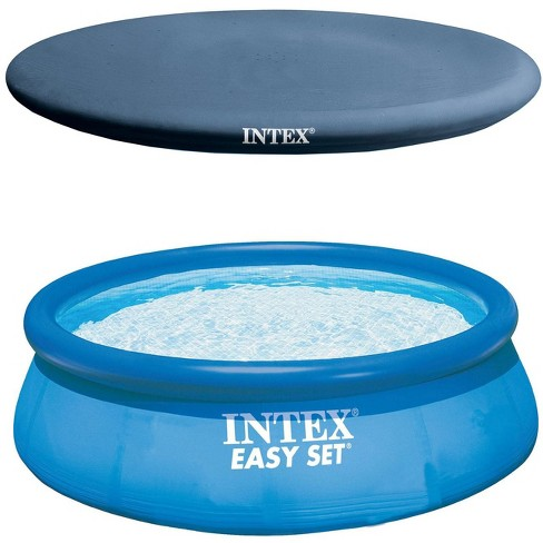 Intex Easy Set Pool, Pump & Filter and Intex Above Ground Rope Tie Pool Cover - image 1 of 4
