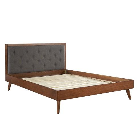 Reid Mid-Century Platform Bed - Linon - image 1 of 4