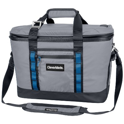 CleverMade Maverick Deluxe Soft Sided Leakproof 32qt Collapsible Cooler Bag - Gray
