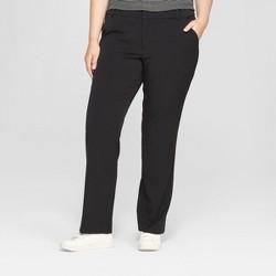 59a7ab13d Women s Plus Size Trouser Pants with Comfort Waistband - Ava   Viv™