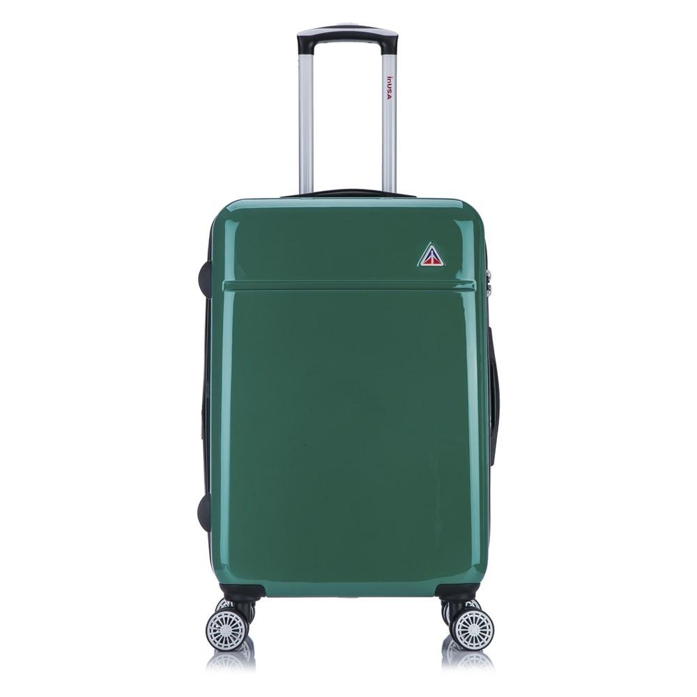 "Image of ""InUSA Avila 24"""" Hardside Spinner Suitcase - Green"""