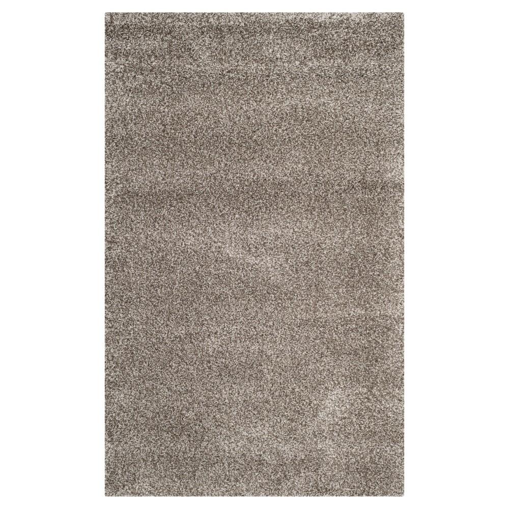 Gray Solid Shag/Flokati Loomed Area Rug - (8'6X12') - Safavieh