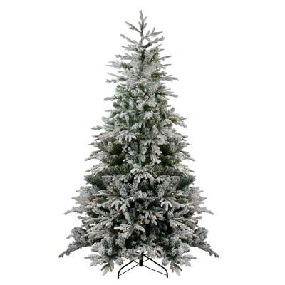 Northlight 7.5' Pre-Lit Flocked Winfield Fir Artificial Christmas Tree - Clear Lights