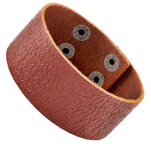 Men's Leather Textured Cuff Bracelet - image 1 of 1
