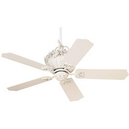 52 Casa Vieja Shabby Chic Indoor Ceiling Fan Antique Floral Scroll Rubbed White For Living Room Kitchen Bedroom Family Dining Target