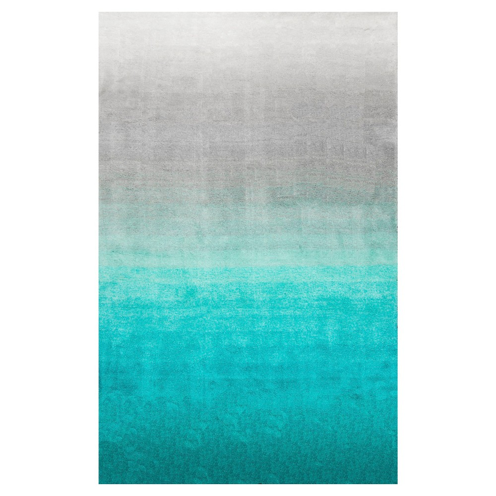 5'x8' Ombre Design Area Rug Turquoise - nuLOOM