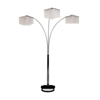 "84"" Crystal Inspirational Arch Floor Lamp Black - Ore International"