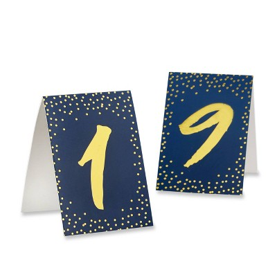 """18ct """"1-18"""" Tented Table Numbers Navy"""