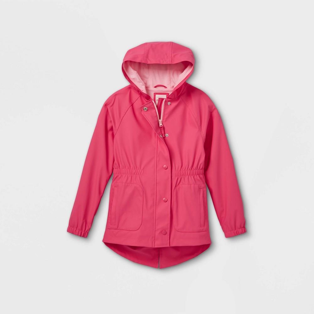 Girls 39 Solid Rain Jacket Cat 38 Jack 8482 Pink M
