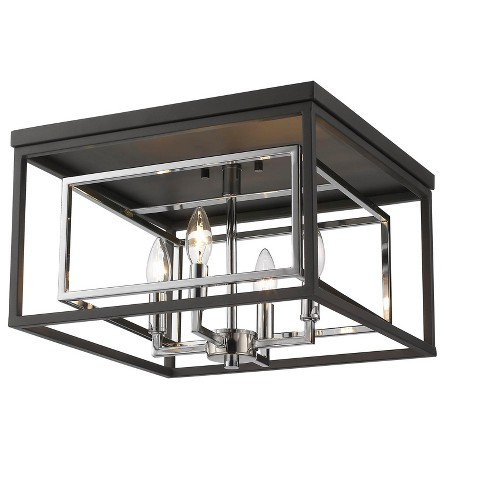 "Z-Lite 457F Euclid 4 Light 15"" Wide Flush Mount Square Ceiling Fixture - image 1 of 1"
