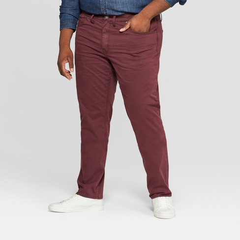 Men's Big & Tall Regular Straight Fit Chino Pants - Goodfellow & Co™ Garnet Rose - image 1 of 3