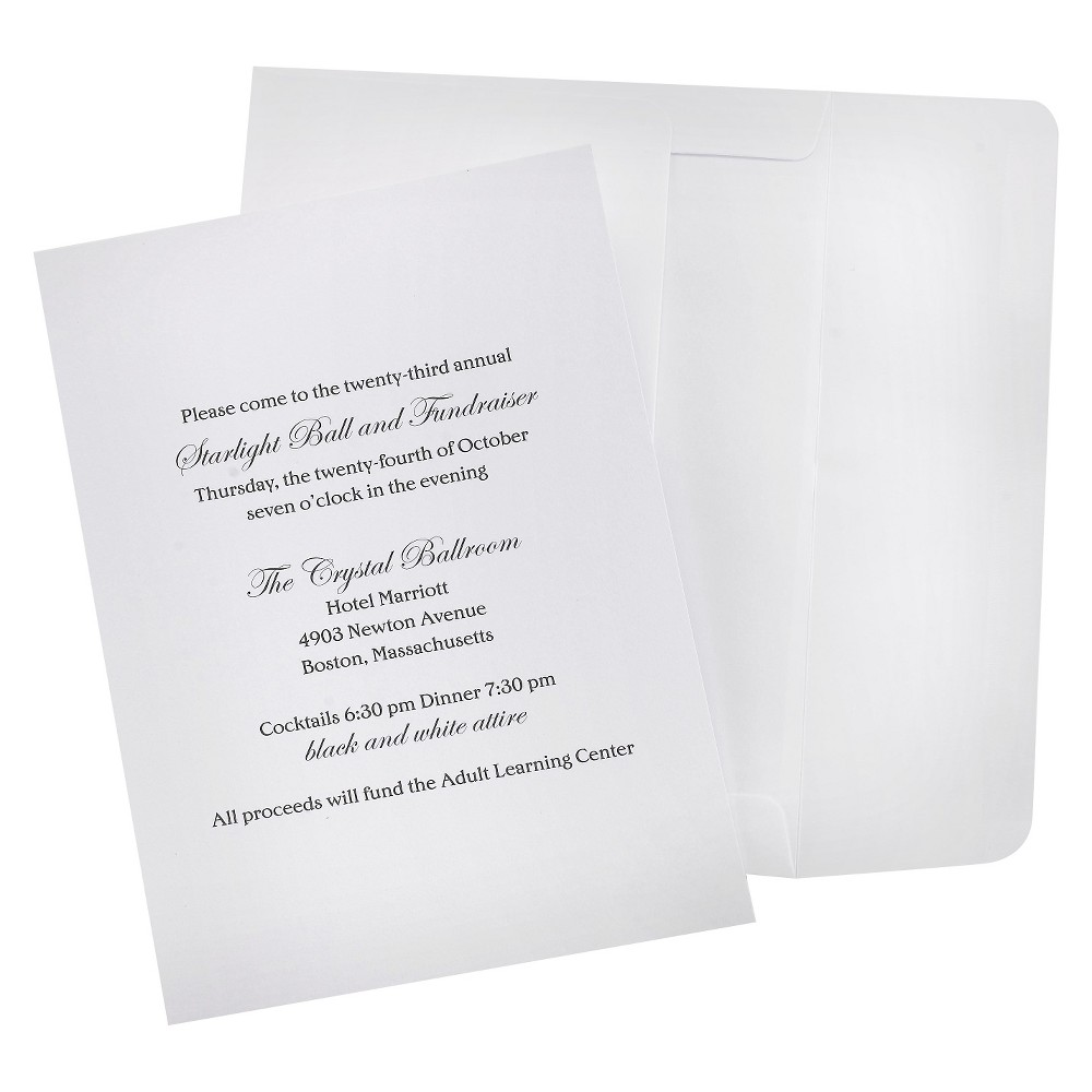 Image of 100ct Wedding Invitation Kit White
