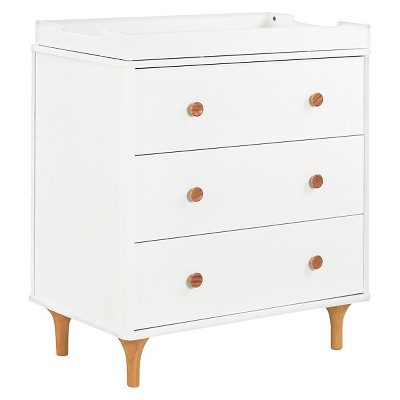 Babyletto Lolly 3-Drawer Changer Dresser - White/Natural