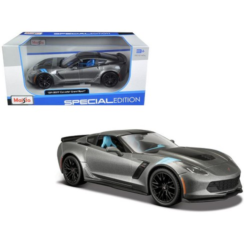 2017 Chevrolet Corvette Grand Sport Metallic Grey 124 Diecast Model