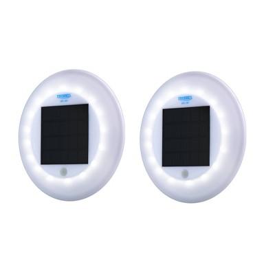 Solar LED Outdoor Pool Lights White - Techko