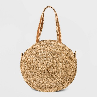Straw Circle Tote Handbag - Universal Thread™ Natural