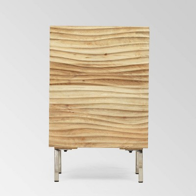 Allaire Modern Side Table Tan - Christopher Knight Home