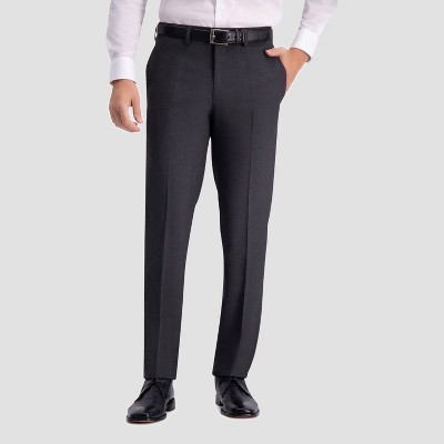 Haggar H26 Men's Slim Fit Premium Stretch Suit Pants - Charcoal Heather