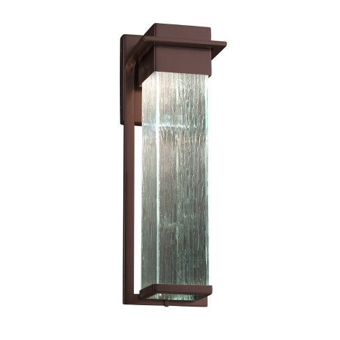 """Justice Design Group FSN-7544W-RAIN Fusion Single Light 16-1/2"""" High Integrated 3000K LED Outdoor Wall Sconce - image 1 of 1"""