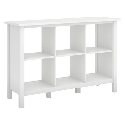 30  Broadview 6 Cube Storage Bookcase Pure White - Bush Furniture