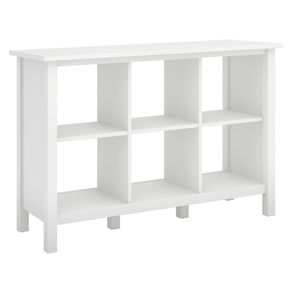 "Image of ""30"""" Broadview 6 Cube Storage Bookcase Pure White - Bush Furniture"""