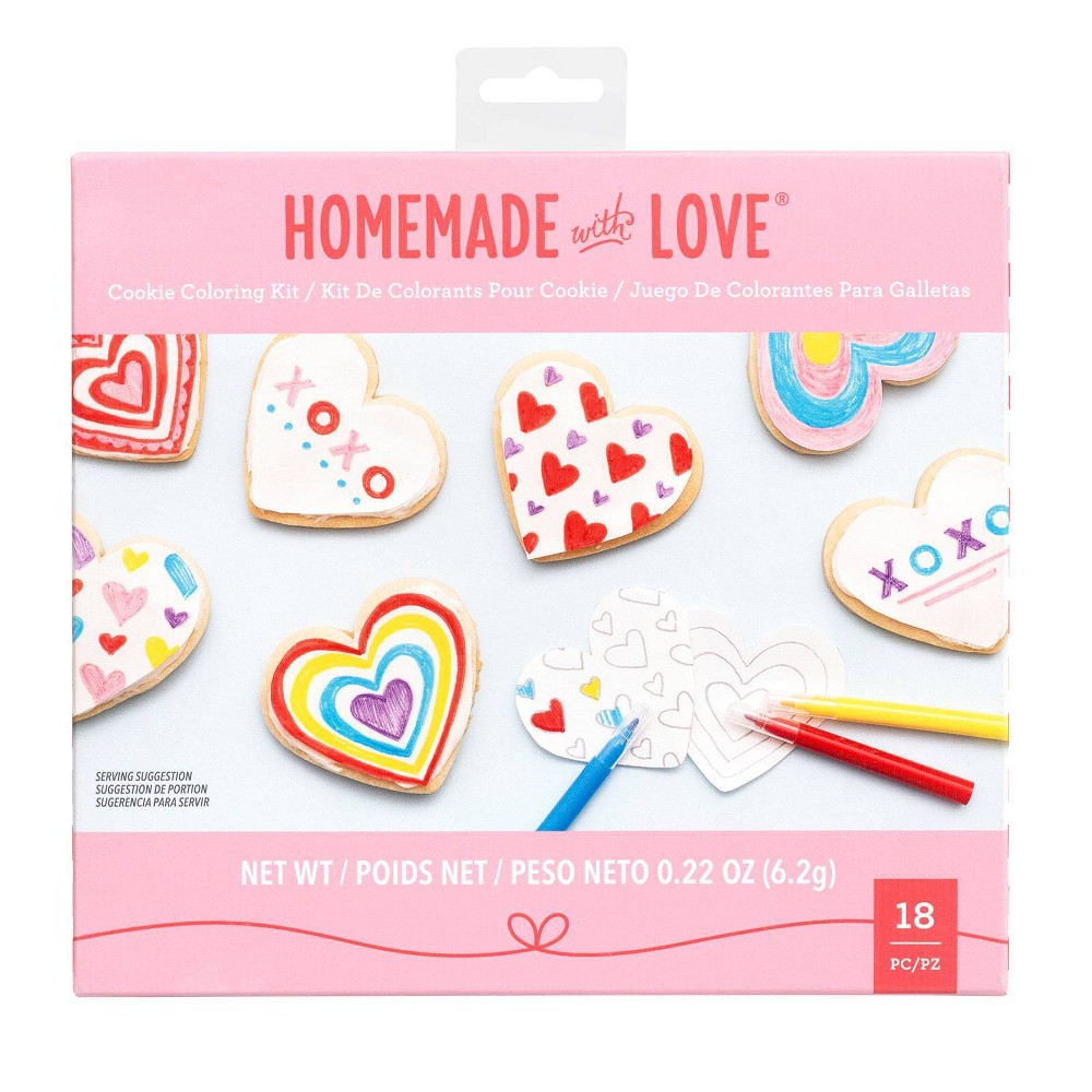 Image of American Crafts 18ct Kids Cookie Coloring Kit, Clear