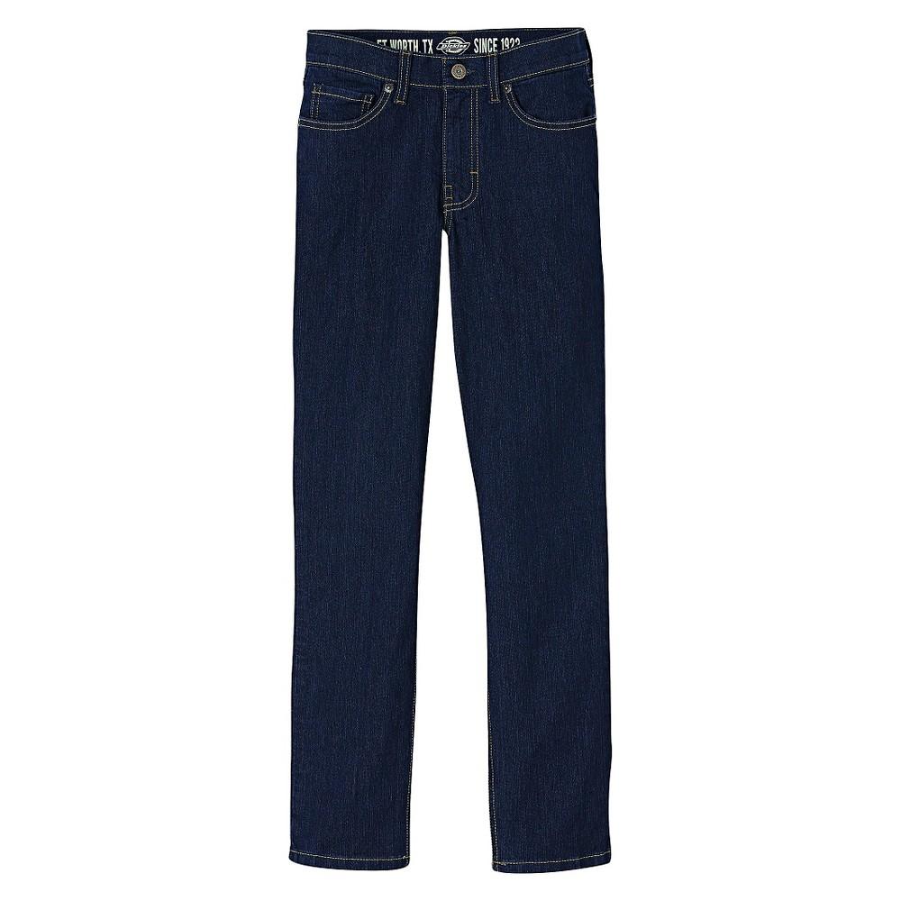 Dickies Boys' Slim Fit Straight Leg Denim Jeans - Indigo Blue 20