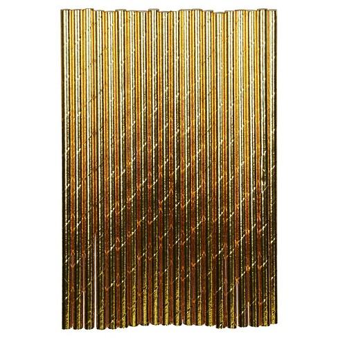 20ct Gold Paper Straw - Spritz™ - image 1 of 1