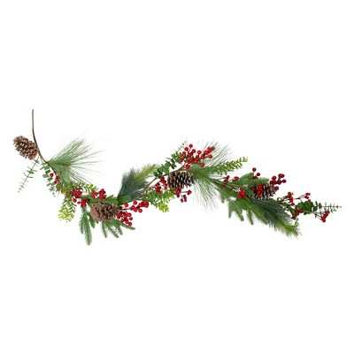 Northlight 5' Berry Pine and Eucalyptus Artificial Christmas Garland - Unlit