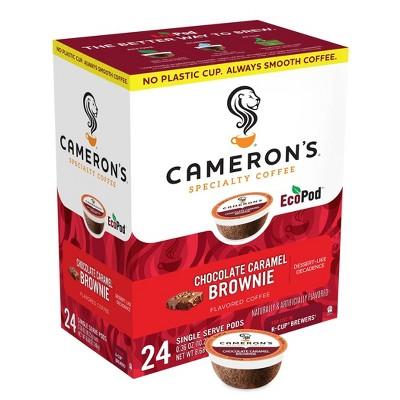 Cameron's Coffee Chocolate Caramel Brownie Light Roast Coffee Pods - 24ct
