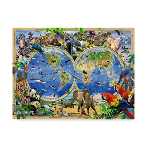 "Howard Robinson World Of Animals Unframed Wall 18""x24"" - Trademark Fine Art - image 1 of 3"