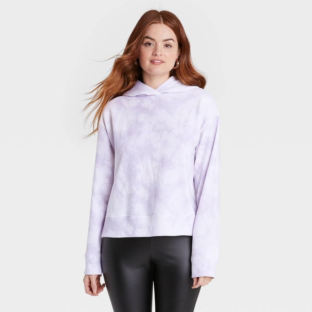 Women 39 S Hooded Sweatshirt A New Day 8482 Light Purple Xl