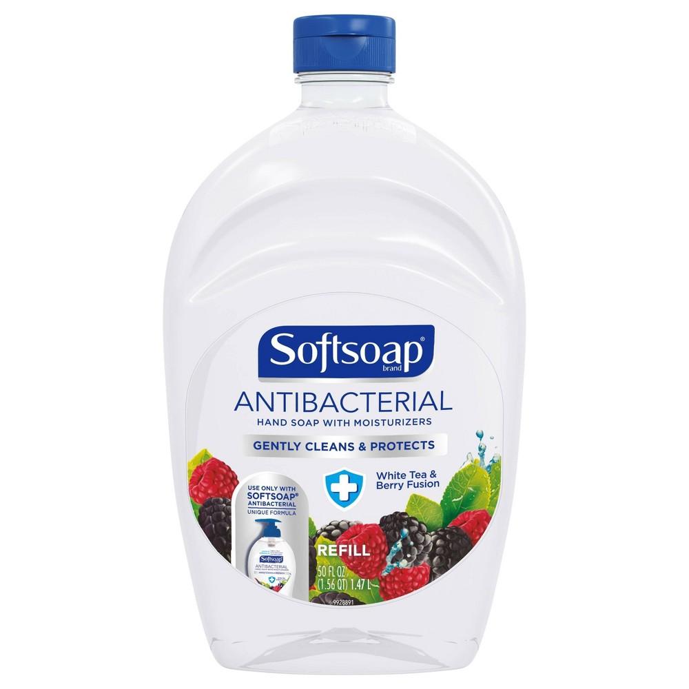 Image of Softsoap Antibacterial Liquid Hand Soap Refill - White Tea & Berry - 50 fl oz