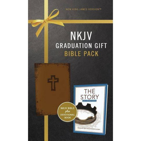 NKJV, Graduation Gift, Bible Pack for Him, Brown, Red Letter Edition - by  Zondervan - image 1 of 1