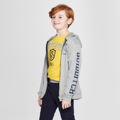Boys' Harry Potter Quidditch Sweatshirt - Gray - image 1 of 3