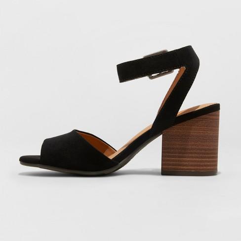 b6bda330f6ac Women s Megan Microsuede Quarter Strap Heeled Pump Sandals - Universal  Thread™   Target