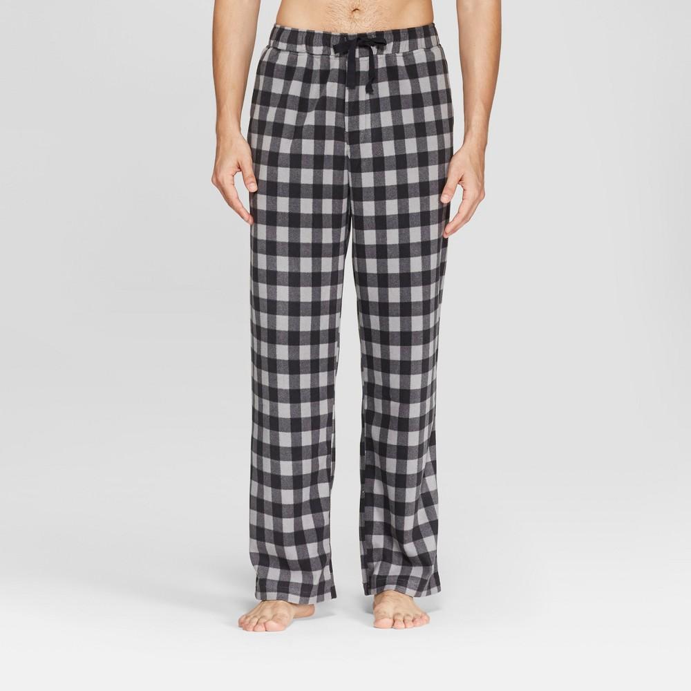 Men's Plaid Micro Fleece Pajama Pants - Goodfellow & Co Gray XL