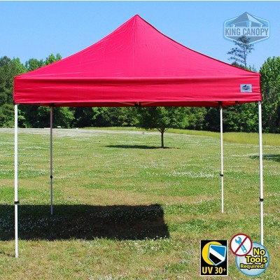 King Canopy 10'x10' Festival Instant Pop Up Tent with Red Cover