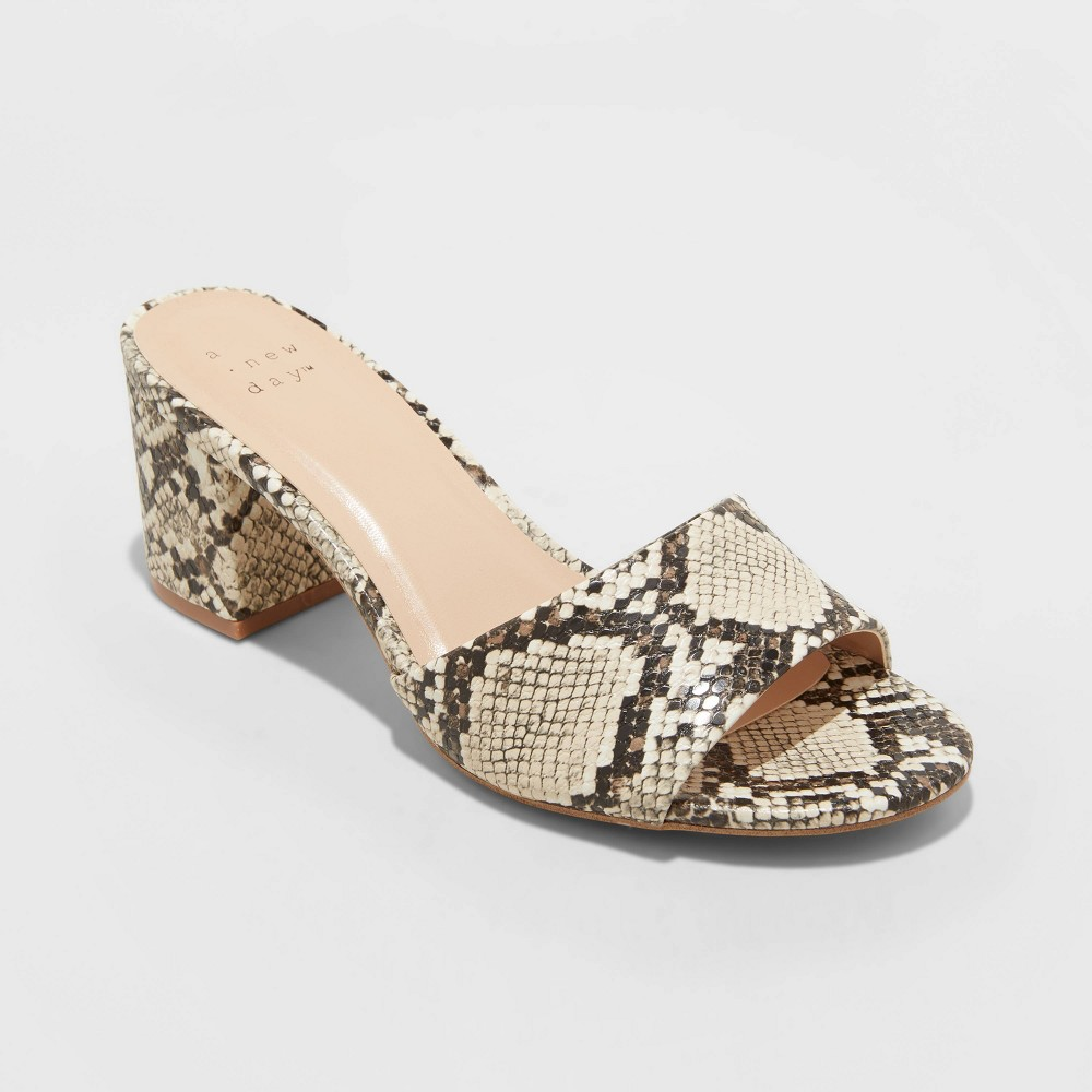 Women 39 S Jana Snake Print Sandals A New Day 8482 Taupe 9 5