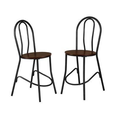 """Set of 2 24"""" Zaid Wood Seat Café Counter Height Barstools - Carolina Chair & Table"""