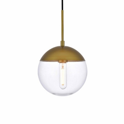 """Elegant Lighting LD6031 Eclipse Single Light 8"""" Wide Mini Pendant with Clear Glass - image 1 of 3"""
