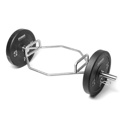 Power Systems 61858 Gym Equipment Squats Deadlift Power Pull Hex Bar with 2 Handle Options