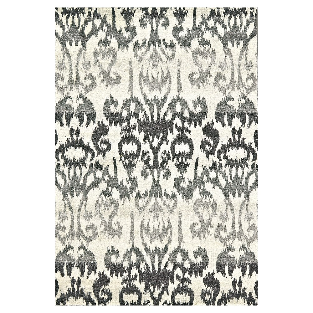 """Image of """"10'X13'2"""""""" Ikat Design Woven Area Rugs Rich Charcoal - Weave & Wander"""""""